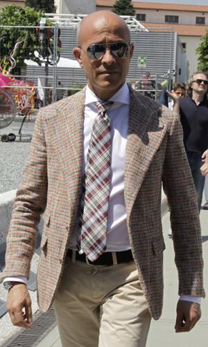 giacca a quadri cravatta