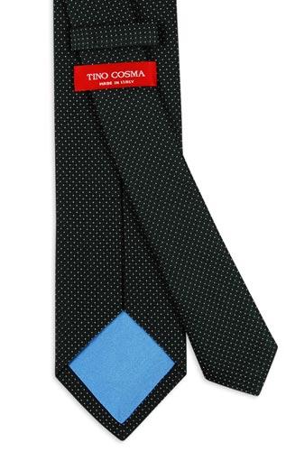 cravatta-nera-a-pois
