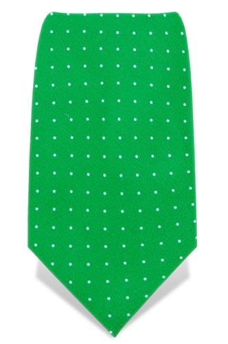 cravatta-verde-pois